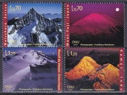 UNO ONU Genf Geneva 2002 Organisatione Berge Gebirge Mountains Mount Fuji Vinson-Massiv Weißhorn Kamet, Mi. 440-3 ** - Office De Genève