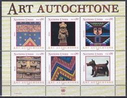 UNO ONU Genf Geneva 2003 Kunst Arts Kultur Kulture Eingeborenenkunst Poncho Inka Bahia Maya Colima, Bl. 18 ** - Neufs