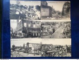 """Leuven--Louvain-/-""""Ruines De Louvain""""-lot 13 Vintage Kaarten Van De Verwoestingen Tijdens WO-I - Leuven"""