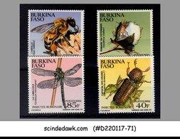 BURKINA FASO - 1992 INSECTS / BEE / DRAGONFLY - 4V MNH - Insekten