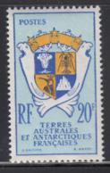 FSAT TAAF 1959 MNH Sc #15 20fr Coat Of Arms - Terres Australes Et Antarctiques Françaises (TAAF)