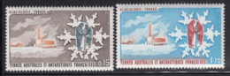 FSAT TAAF 1984 MNH Sc #105-#106 Set Of 2 Scientists Drilling Glacier Glaciology - Terres Australes Et Antarctiques Françaises (TAAF)