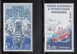 FSAT TAAF 1986 MNH Sc #123-#124 Set Of 2 Ships Var Research Vessel Polarbjorn Support Ship - Terres Australes Et Antarctiques Françaises (TAAF)