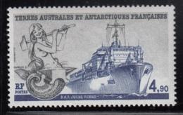 FSAT TAAF 1988 MNH Sc #137 4.90fr Mermaid, BAP Jules Verne Research Ship - Neufs
