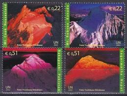 UNO ONU Wien Vienna 2002 Organisatione Berge Gebirge Mountains Mount Cook Robson Everest Rakaposhi, Mi. 363-6 ** - Wien - Internationales Zentrum