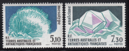 FSAT TAAF 1989 MNH Sc #146-#147 Set Of 2 Minerals Mesotype, Analcime - Terres Australes Et Antarctiques Françaises (TAAF)