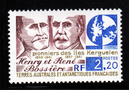 FSAT TAAF 1989 MNH Sc #148 2.20fr Henri, Rene Bossiere Pioneers Of Kerguelen - Terres Australes Et Antarctiques Françaises (TAAF)