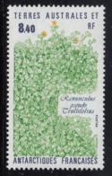 FSAT TAAF 1990 MNH Sc #157 8.40fr Ranunculus Pseudo Trullifolius Plant - Terres Australes Et Antarctiques Françaises (TAAF)