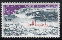 FSAT TAAF 1981 MNH Sc #C68 5fr Charcot Station 25th Anniversary - Poste Aérienne