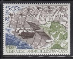 FSAT TAAF 1986 MNH Sc #C95 8fr SPOT Satellite Over Antarctic - Poste Aérienne