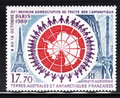 FSAT TAAF 1989 MNH Sc #C108 17.70fr 15th Antarctic Treaty Summit Conference - Poste Aérienne