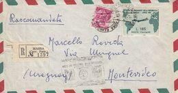 ITALIA - 1961 - Busta Di Raccomandata Viaggiata Affrancata Con Yvert 846 E 838. - 6. 1946-.. Republik