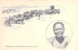 AFRIQUE NOIRE - LESOTHO : Waggon Travellinin Basutolan And Native - CPA - Black Africa - Lesotho