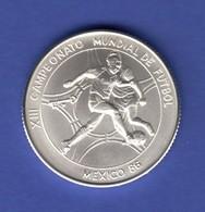 Cuba 5 Peso - Fußball Weltmeisterschaft 1986 In Mexico Ag999 - Monnaies