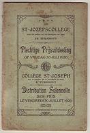 Palmares Sint-Jozefscollege Turnhout, 1920 - Diplômes & Bulletins Scolaires