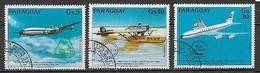 PARAGUAY 1984  POSTA AEREA PRIMO VOLO DIRETTO EUROPA AMERICA DEL SUD YVERT. 959-961 USATA VF - Paraguay