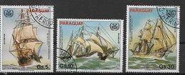 PARAGUAY 1983   POSTA AEREA ORGANIZZAZIONE MARITTIMA INTERNAZIONALE O.M.I YVERT. 939-941 USATA VF - Paraguay