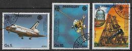 PARAGUAY 1984 POSTA AEREA ANNO MONDIALE DELLE COMUNICAZIONI YVERT. 942-944 USATA VF - Paraguay
