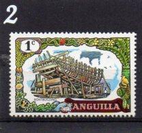 1970 Boatbuilding 1c MNH - Anguilla (1968-...)