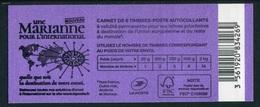 """Carnet De 2018 De 6 Timbres Adhésfs """"Marianne L'engagée - International"""" - Couvert. """"Une Marianne Pour L'International"""" - Usage Courant"""