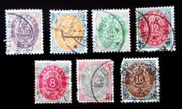 Danemark Lot De 6 Valeurs  Figures . Chiffres . Oblitérés Used - Oblitérés