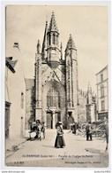 CPA - GUERANDE . Façade De L'église Saint Aubin - Guérande