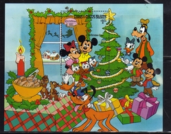 TURKS & CAICOS ISLANDS ISOLE 1983 DISNEY CHRISTMAS NATALE NOEL WEIHNACHTEN BLOCK SHEET BLOCCO FOGLIETO BLOC FEUILLET MNH - Turks E Caicos