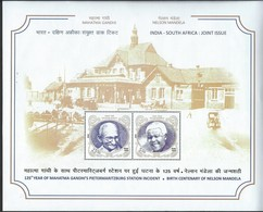 India. Scott #  MNH Large S/sheet. 25th Anniv. Of Diplom. Relat. Gandhi & Mandela. Joint Issue With South Africa 2018 - Joint Issues