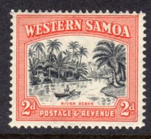 WESTERN SAMOA - 1935 2d BOAT SHIP STAMP FINE MINT LMM * SG182 - Samoa