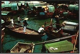 Hong Kong / Hongkong  -  Floating Population  -  Holzboote / Kleine Schiffe  -  Ansichtskarte Ca.1972    (9599) - China (Hongkong)
