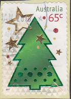 2017. AUSTRALIAN DECIMAL. Christmas. 65c. Gift . P&S. FU. Embellised - 2010-... Elizabeth II