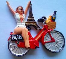 Paris  Girl On Bike - Tourism
