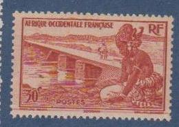 A  O  F        N°  YVERT  :    25       NEUF AVEC  CHARNIERES      ( Ch 1/10  ) - A.O.F. (1934-1959)