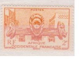 A  O  F        N°  YVERT  :    33       NEUF AVEC  CHARNIERES      ( Ch 1/10  ) - A.O.F. (1934-1959)