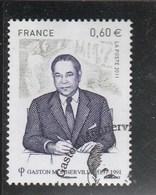 France 2011 GASTON MONNERVILLE OBLITERE YT 4628 - France