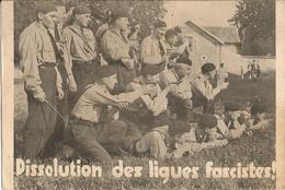DISSOLUTION  DES  LIGUES  FASCISTES  /  Francistes De Marcel  Bucard  Au Cours D ' Un  Exercice De Tir En 1934 - Partis Politiques & élections