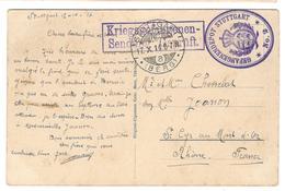 13725 - GEFANGENENDEPOT STUTTGART - 1. Weltkrieg 1914-1918