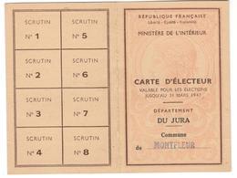 13732 - CARTE D ELECTEUR  46 - Documents Historiques