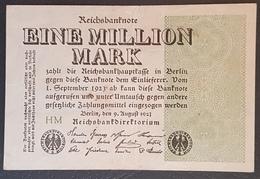 EBN12 - Germany 1923 Banknote 1 Millionen Mark Pick 102a #HM - [ 3] 1918-1933 : Weimar Republic