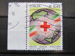 *ITALIA* USATI 2005 - CROCE ROSSA ITALIANA - SASSONE 2856 - LUSSO/FIOR DI STAMPA - 6. 1946-.. Repubblica