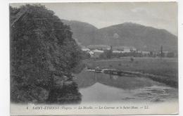 (RECTO / VERSO) SAINT ETIENNE DES VOSGES EN 1908 - N° 4 - LA MOSELLE - LES CASERNES ET LE SAINT MONT - CPA VOYAGEE - Saint Etienne De Remiremont
