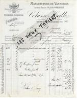 02 - Aisne - ORIGNY-EN-THIERACHE - Facture COLASSE-HALLEZ - Manufacture De Vanneries, Osier - 1909 - REF 118A - 1900 – 1949