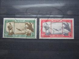 VEND TIMBRES DE POSTE AERIENNE D ' ITALIE N° 37 + 38 , NEUFS AVEC CHARNIERES !!! - 1900-44 Victor Emmanuel III.