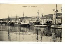 Carte Postale Ancienne Bastia - Le Nouveau Port - Bateaux - Bastia