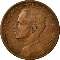 Monnaie, Italie, Vittorio Emanuele III, 5 Centesimi, 1908, Rome, TB+, Bronze - 1900-1946 : Vittorio Emanuele III & Umberto II