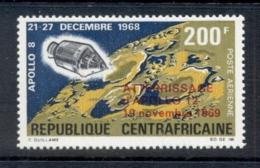 Central African Republic 1970 Apollo 12 Moon Landing Opt MUH - Central African Republic