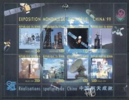 Benin 1999 China Space Program MS MUH - Benin - Dahomey (1960-...)