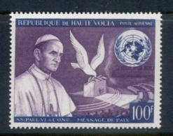 Upper Volta 1966 Pope Paul Vi Peace Appeal MUH - Upper Volta (1958-1984)