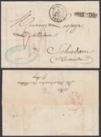 BELGIQUE 1860 DE BRUXELLES AMBULANT NORD N°2+GRIFFE BRUXELLE VERS SCHIEDAM PAYS BAS (DD) DC-1984 - Andere
