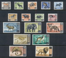 Kenya 1966-69 Pictorials Wildlife MUH - Kenya (1963-...)